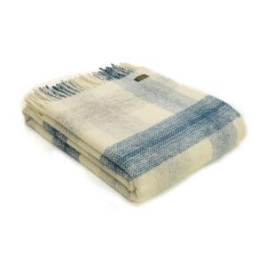 Tweedmill Blanket Meadow Check Ink Blue