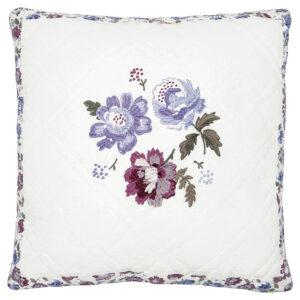 Greengate Beatrice Square Purple Cushion